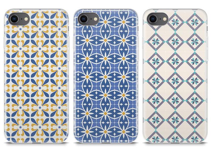 capas silicone azulejos iPhone