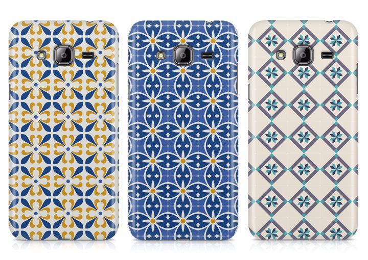 capas silicone azulejos telemoveis samsung j3 2016