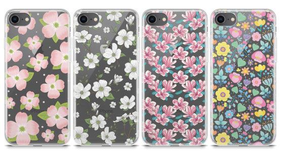 capas transparentes iphone motivos florais