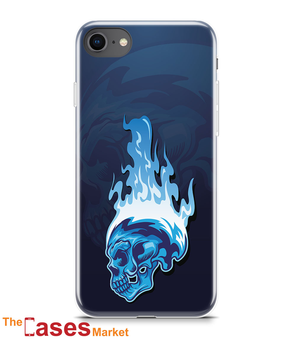 capa iPhone flaming skull 2