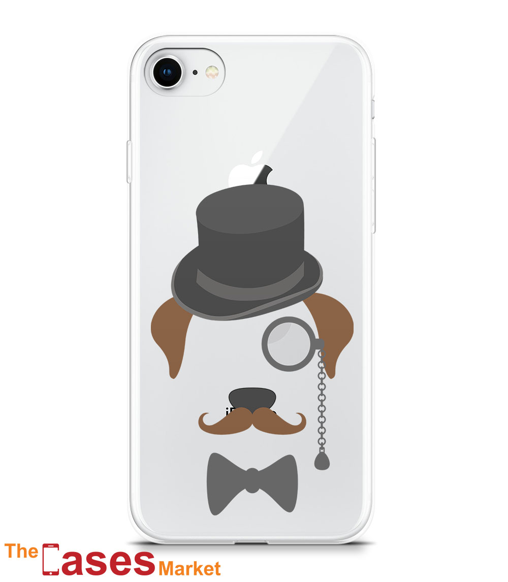 capa iPhone gentleman dog pet 5