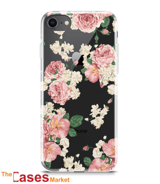 capa transparente iphone flores 7