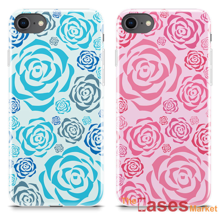 capa iphone silicone rosas