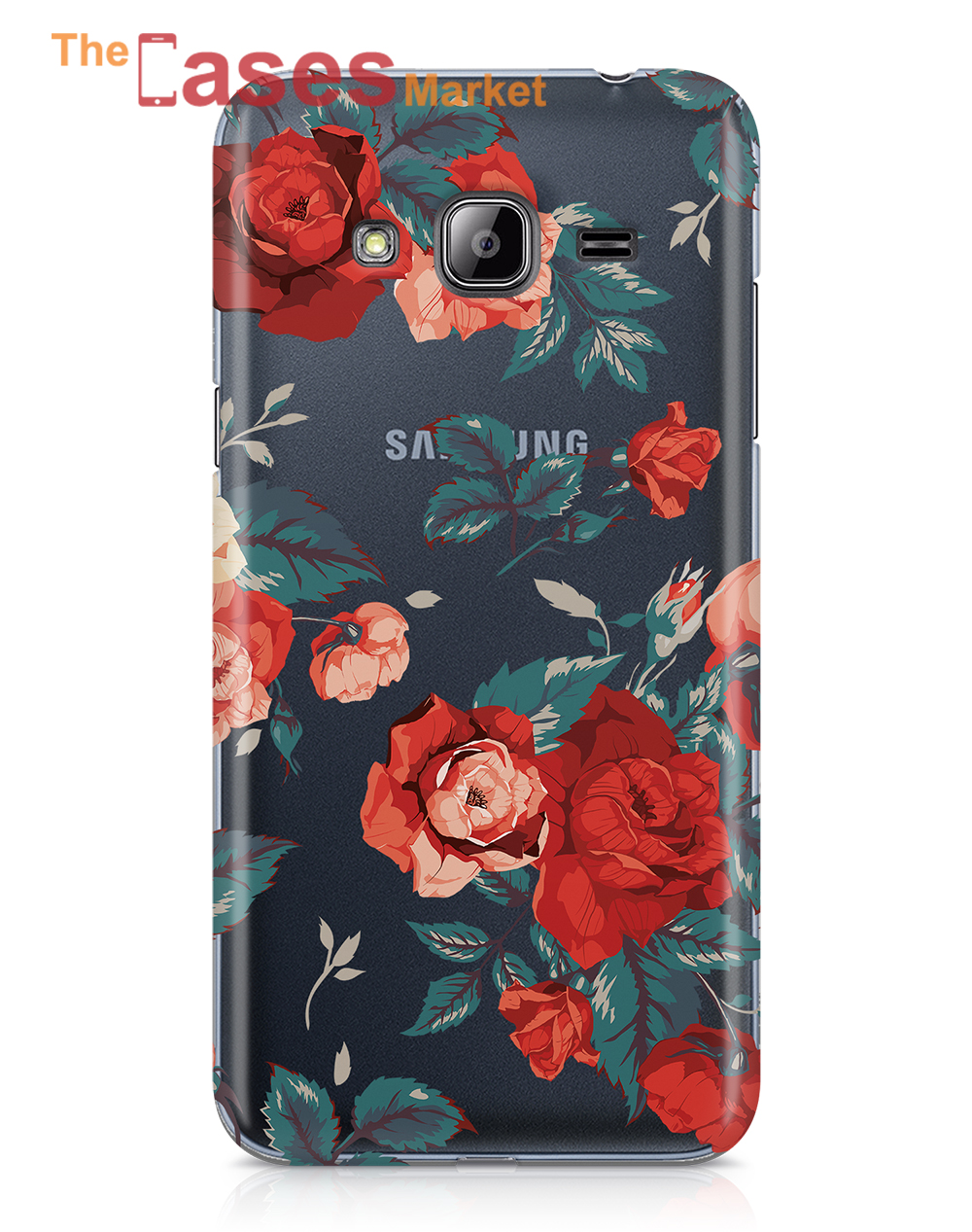 capa silicone samsung J3 flores 5