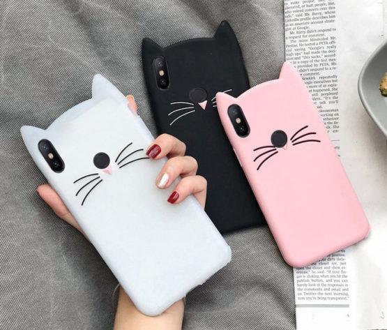 capa gato silicone xiaomi redmi note 7
