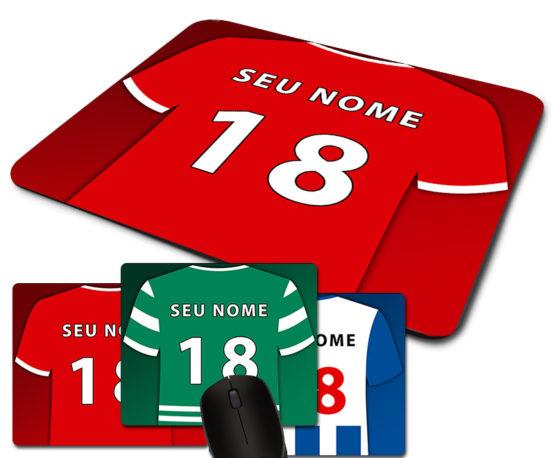 tapete de rato camisolas futebol personalizados nome e numero