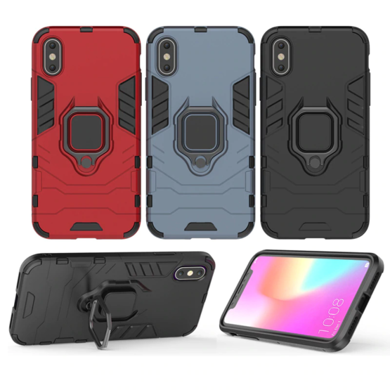 capa anti-choque anel magnetico iphone xs max