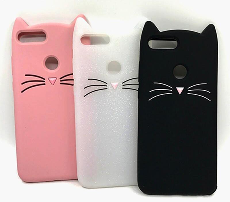 capa gato silicone huawei y7 2018