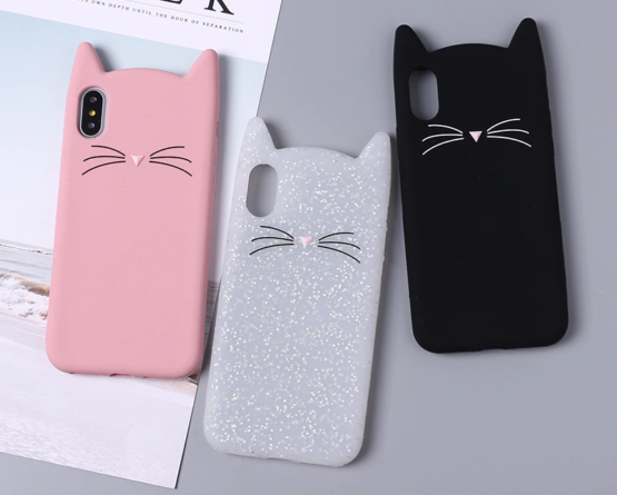 capa gato silicone iphone xr