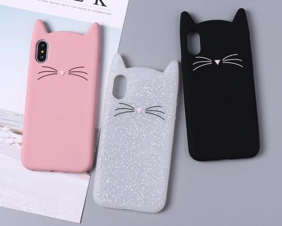 capa gato silicone iphone xs max