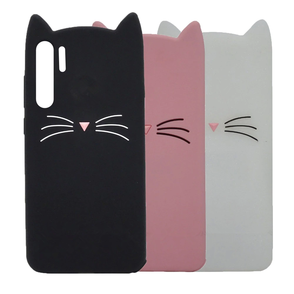 capa silicone gato huawei p30 lite