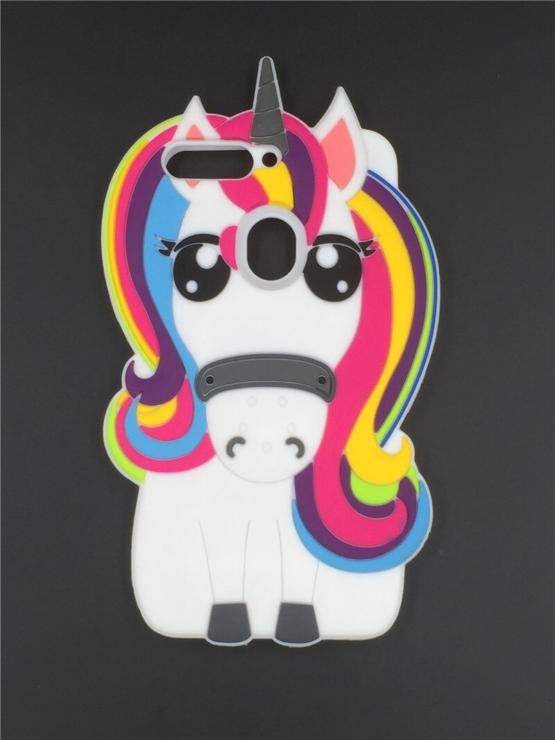 capa silicone unicornio huawei y7 2018