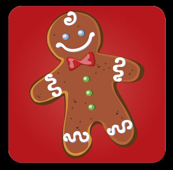 iman quadrado biscoito de natal