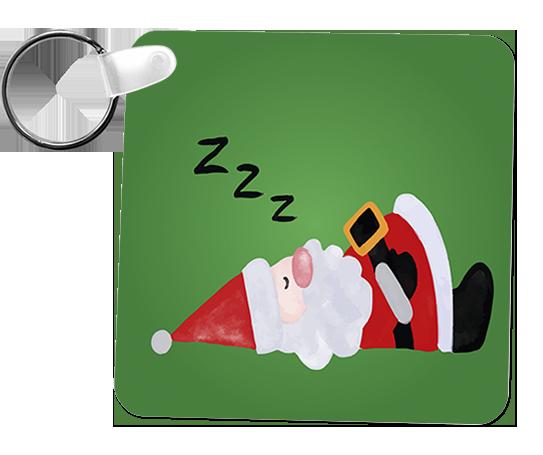 porta chaves pvc pai natal a dormir