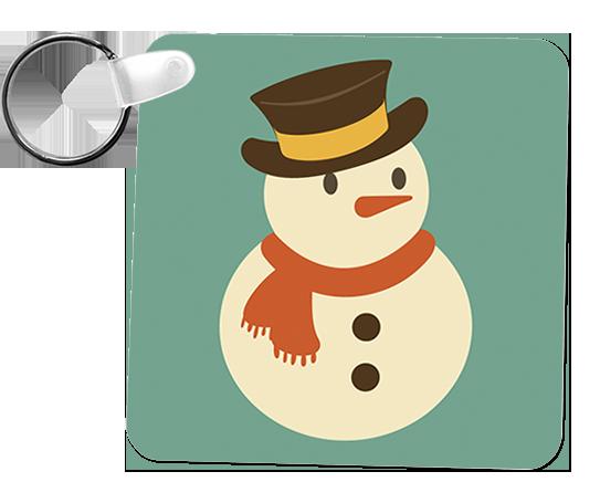 porta-chaves boneco de neve natal
